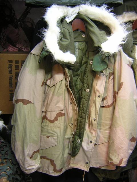 M-65ジャケット 3カラーデザート
